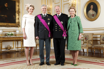 Famille Royale Belge Phillippe, Mathilde, Albert II et Paola