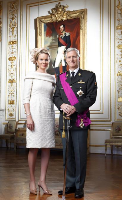 Le Roi Philippe et la Reine Mathilde