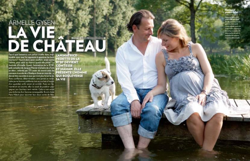 Armelle Gysen d'Aspremont RTBF Paris Match Belgique