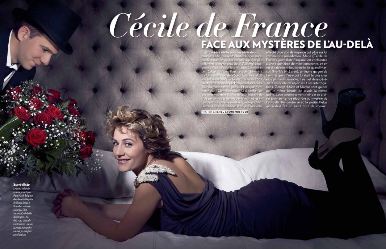 Cécile de France dans Paris Match