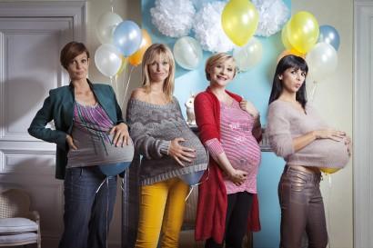 Fanny Jandrain enceinte l'animatrice d'RTL-TVI fête la future naissance de son bébé lors d'une Baby Shower, avec ses amies d'RTL Sandrine Dans, Sandrine Corman et Maria Del Rio.