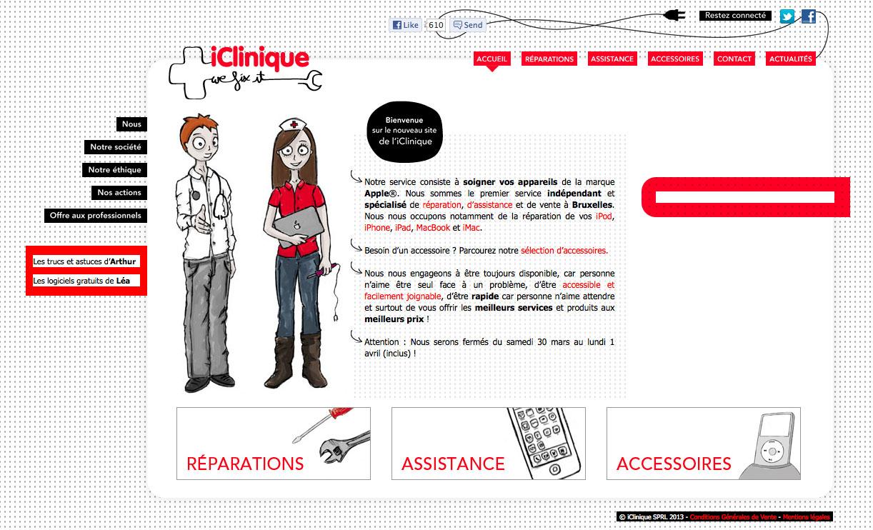 La iClinique pour réparer son ordinateur Apple, la vitre d'un iPhone, d'un iPad, ou un MacBook service rapide à Bruxelles, la iClinique spécialiste Apple indépendant.