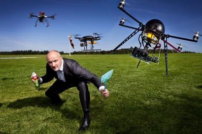 Jean-Louis Lahaye, l'animateur de la RTBF avec ses drônes.