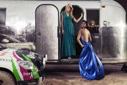 Photos des deux ex Miss Belgique Tatiana Silva et Tanja Dexters pour Skoda à l'occasion du Rallye des Gazelles 2013.