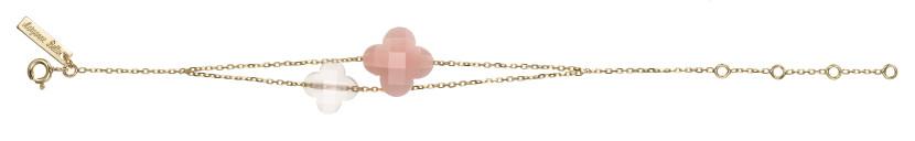 Bracelet Quartz Rose et Opale Rose