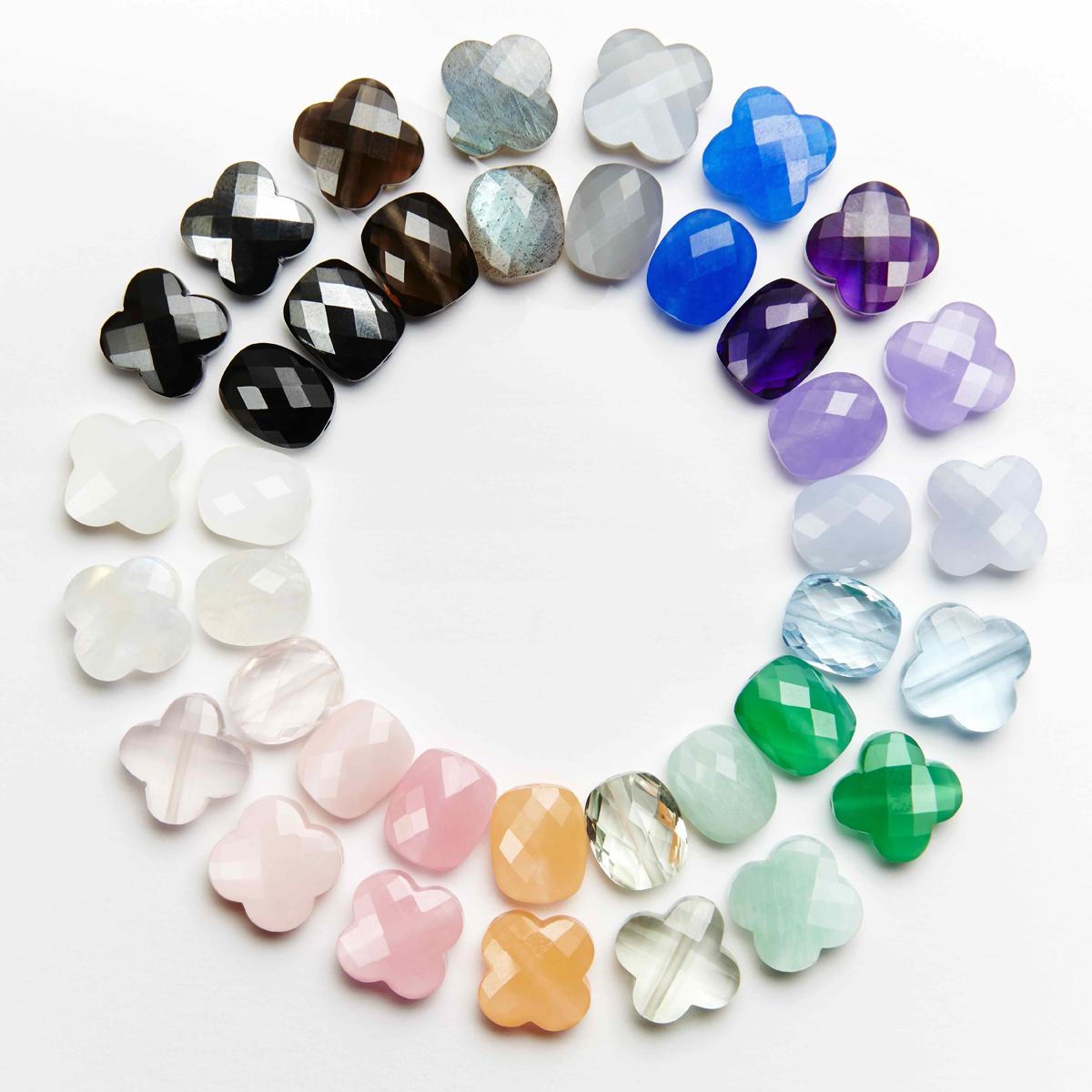 Photos des pierres semi précieuses de la collection de bijoux Morganne Bello