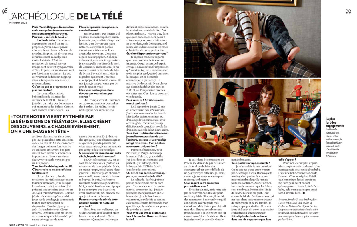 elodie de s lys rtbf et son fils dans paris match michel. Black Bedroom Furniture Sets. Home Design Ideas