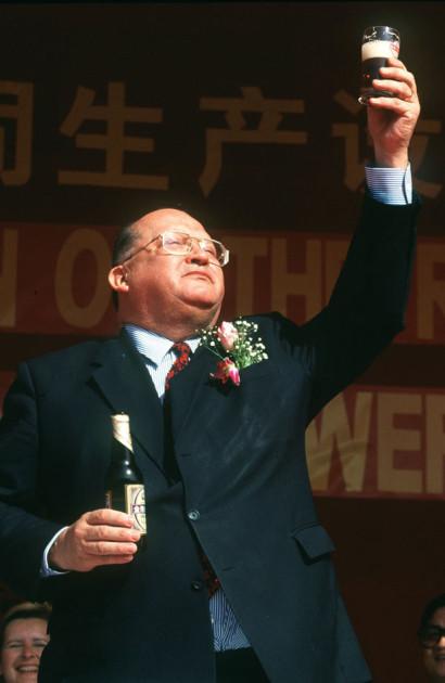 L'ancien Premier Ministre Belge Jean-Luc Dehaene lors de sa visite d'état en chine