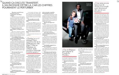 Romelu Lukaku Paris Match