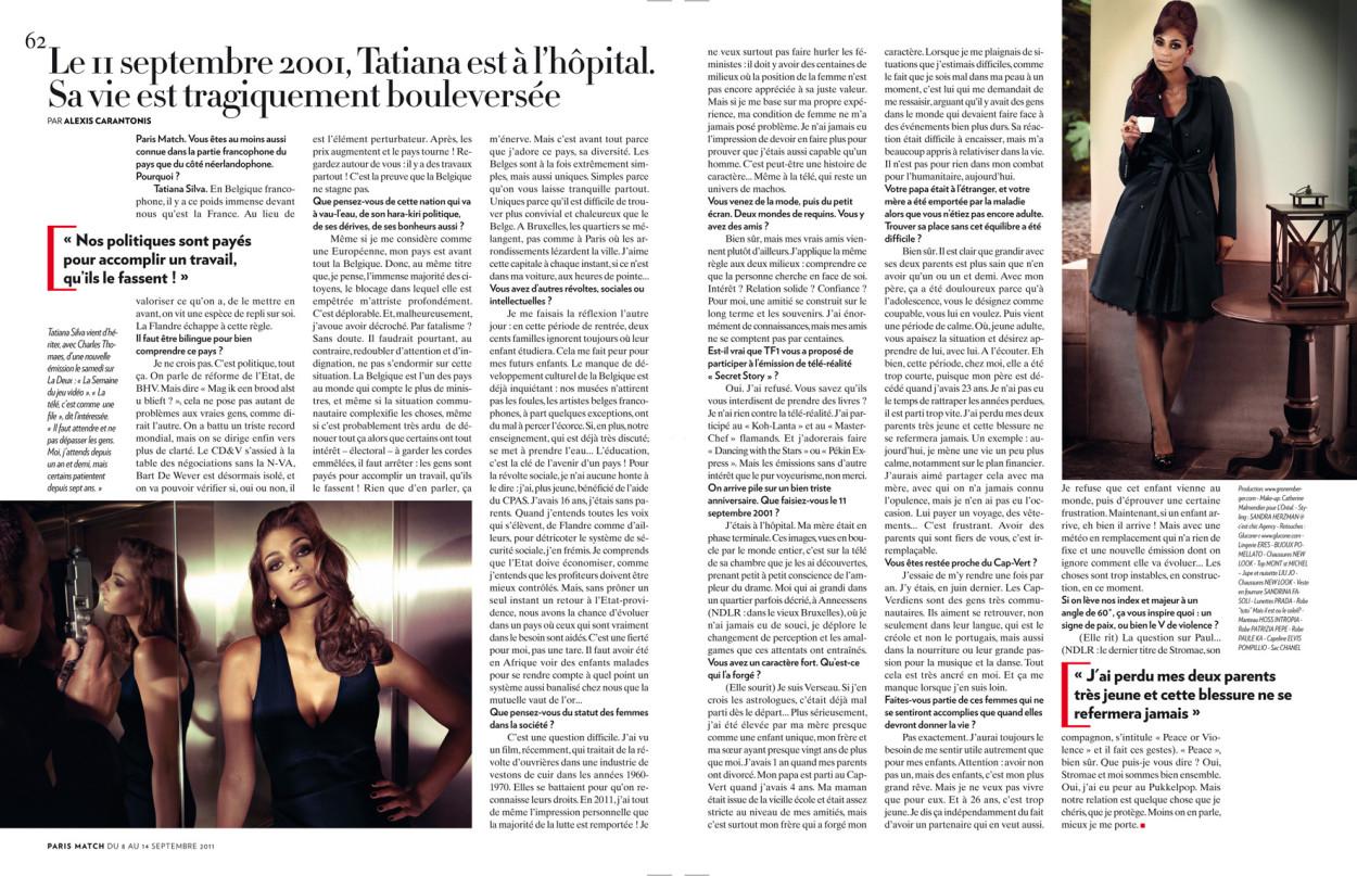 Tatiana Silva rtbf et miss météo sur M6, des photos sexy et glamour dans Paris Match