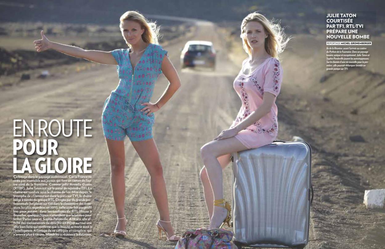 Sophie Pendeville et Julie Taton dans Paris Match