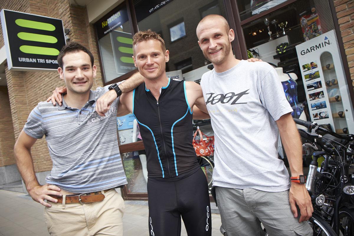 Urban Tri Sports à Bruxelles Stockel, un magasin spécialisé dans les trois disciplines qui composent le triathlon, la natation, le vélo et la course à pied.