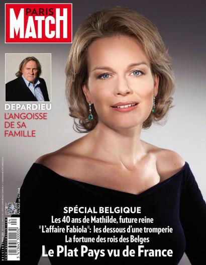 Couverture de Paris Match avec le portrait de la Reine Mathilde de Belgique
