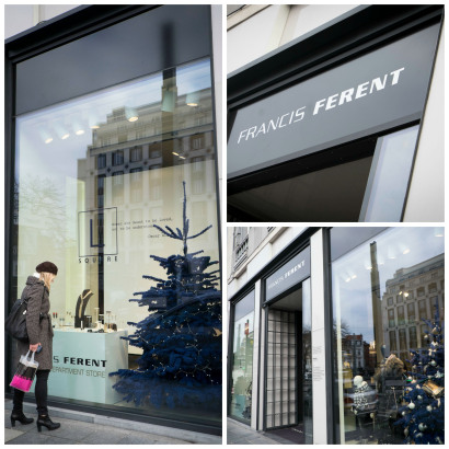 La boutique de luxe à Bruxelles avenue Louise Francis Ferent et ses corners pour les créateurs belges de la mode.