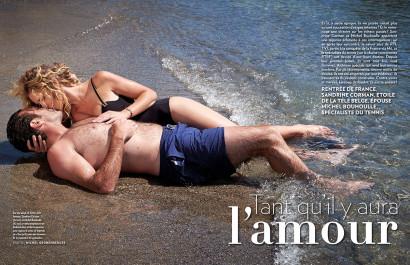 Sandrine Corman RTL-TVI et son mari Michel Bouhoulle, photos des mariés sous le soleil de Crète pour Paris Match Belgique