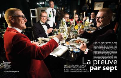Gerald Watelet l'animateur de C'est du Belge à la RTBF chez lui pour Paris Match Belgique