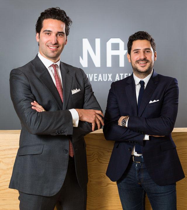 Les Nouveaux Ateliers des costumes et chemises sur-mesure à prix abordable. Nicolas Wolfovski et François Chambaud CEO Les Nouveaux Ateliers.