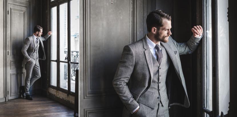 Les Nouveaux Ateliers à Bruxelles, costume gris 3 pièces sur-mesure à prix abordable, la collection automne hiver 2015