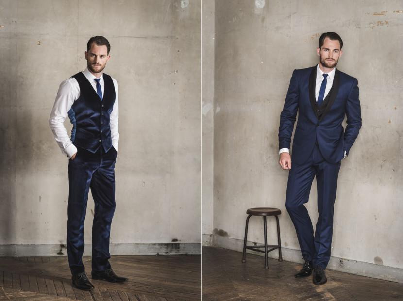 Les Nouveaux Ateliers des costumes et chemises sur-mesure à prix abordable grâce à sa technologie de prises de mesures 3D, la collection automne hiver 2015.