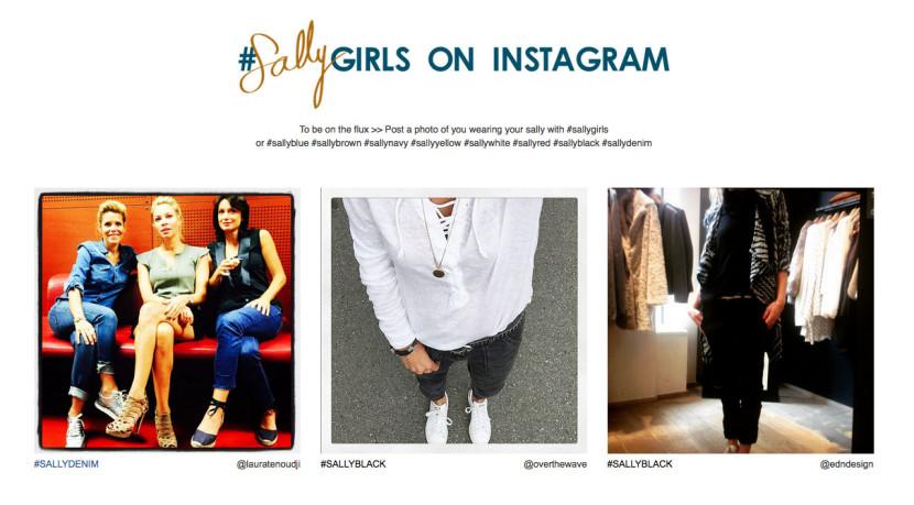 Compte instagram pour la collection des pantalons Sally de ba&sh sallygirls
