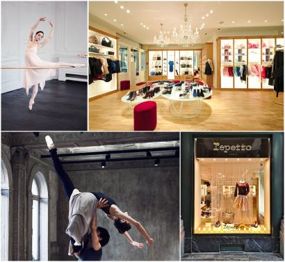 La boutique Repetto à 1000 Bruxelles au 36 Galerie du Roi, spécialiste des chaussons de danse et vêtements de danse