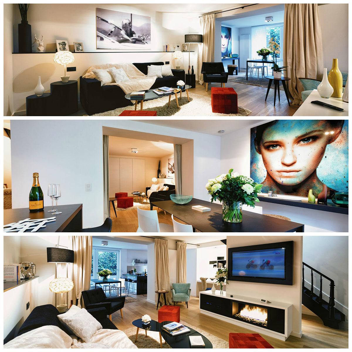 La Maison Amazone de Charles'home dans le quartier du Chatelain, des appartements meublés de luxe à Bruxelles