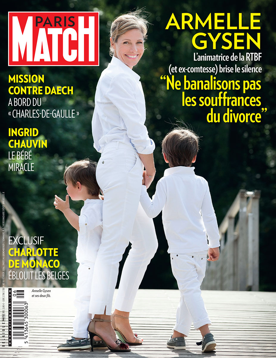 interview d 39 armelle gysen l 39 animatrice de la rtbf dans paris match. Black Bedroom Furniture Sets. Home Design Ideas