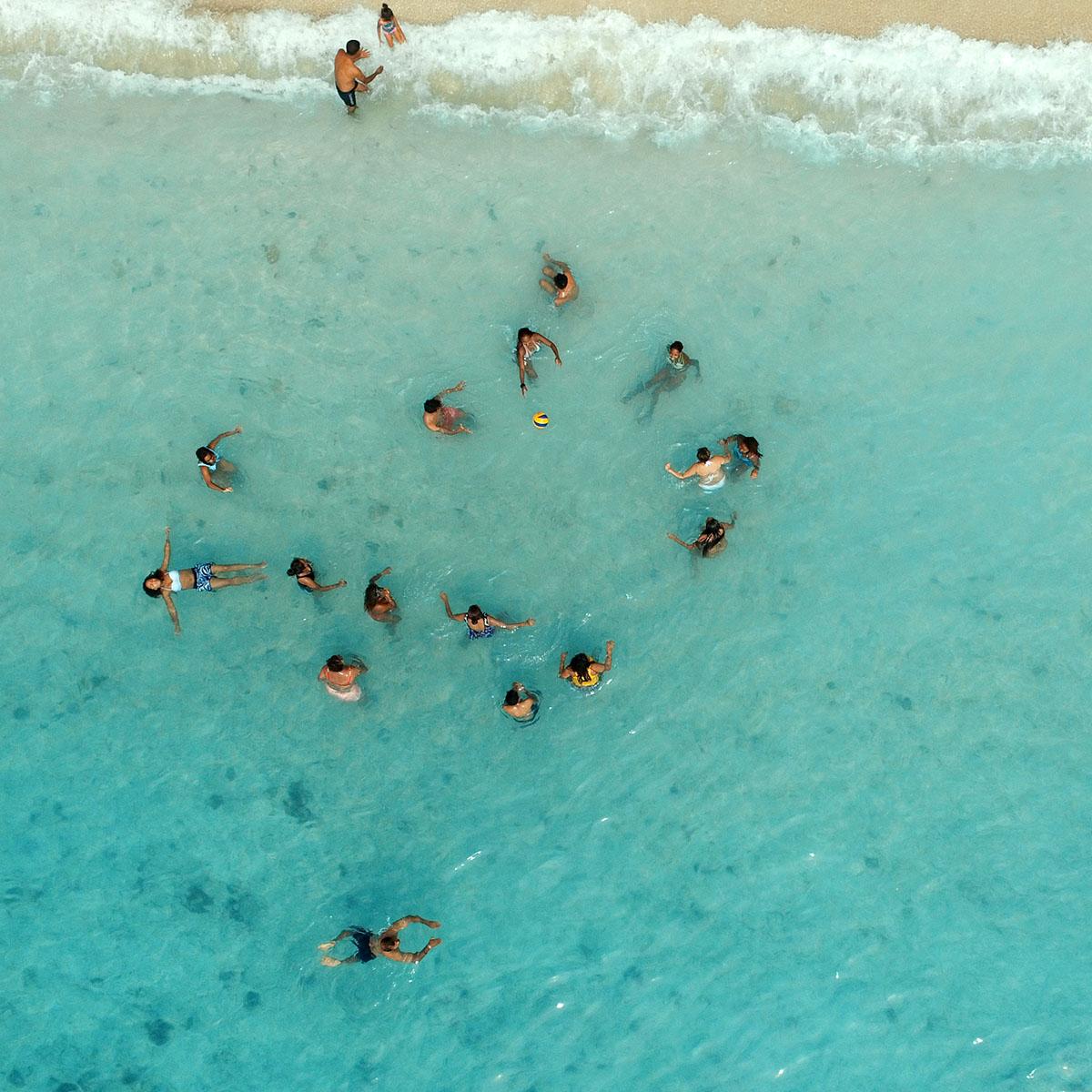 Vue de la plage du Morne à l'île Maurice avec le drone DJI Phantom 3 Professional