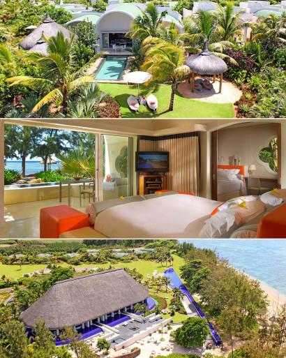 Le Sofitel So Mauritius un hôtel de luxe moderne et design dans le sud ouest de l'île Maurice à Bel Ombre décoré par le styliste Kenzo Takada