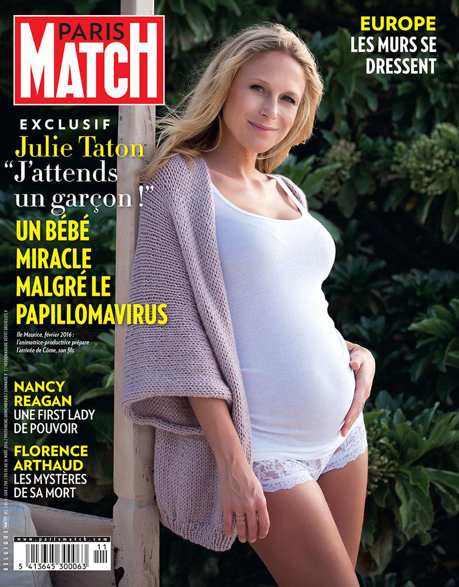 Bientôt maman, Julie Taton pose enceinte à l'île Maurice en attendant son fils Côme