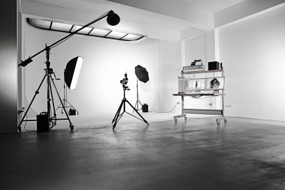 Le studio 1 de la Fabrique 22A à Bruxelles, des studios photo en location et du matériel photographique professionnel à louer