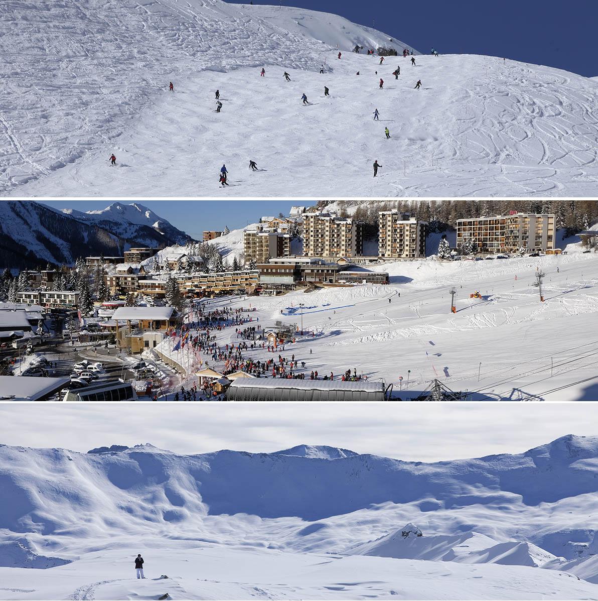 La station de ski d'Orcières Merlette 1850 ses pistes et le massif de l'Écrin