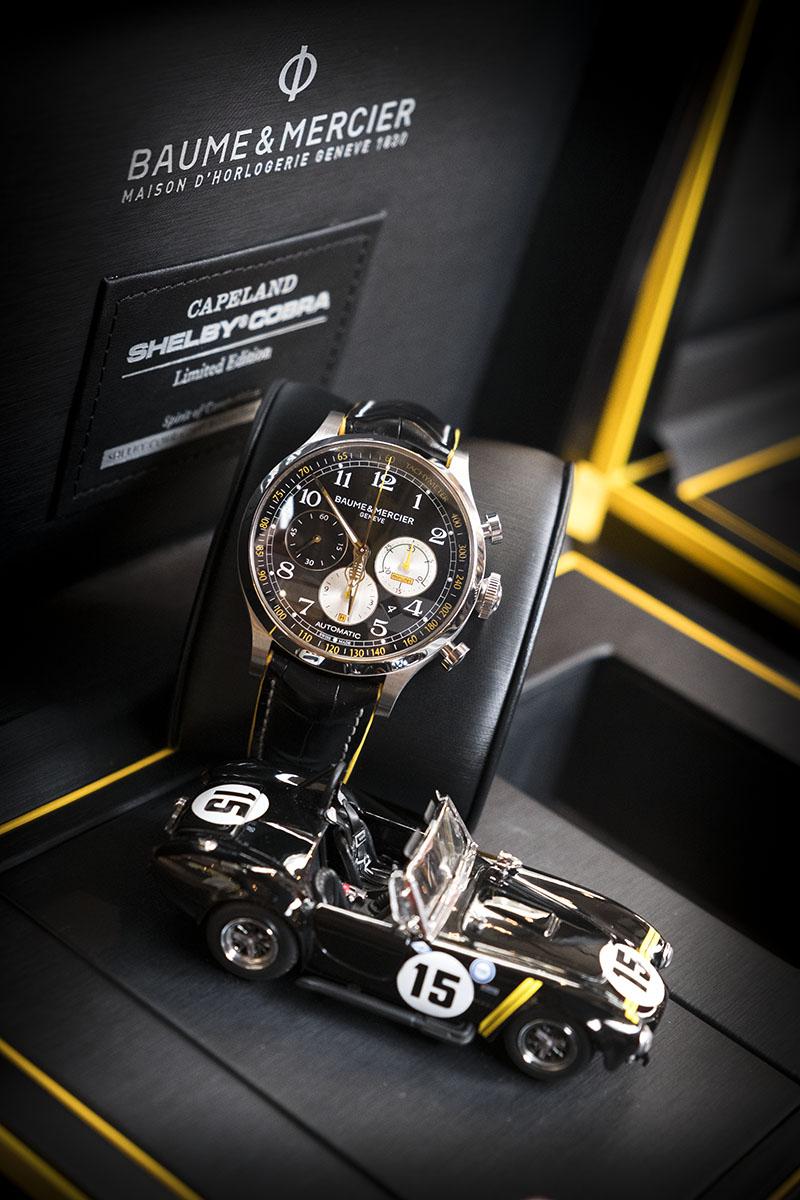 Coffret de la montre Baume et Mercier Capeland Shelby Cobra 1963