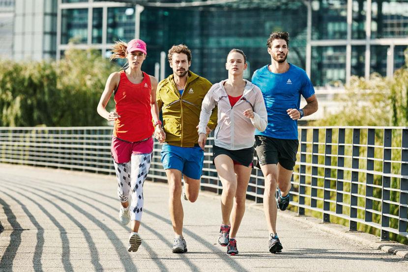 Collection de vêtements techniques printemps été 2016 pour le jogging de la marque de vêtements de sport Odlo