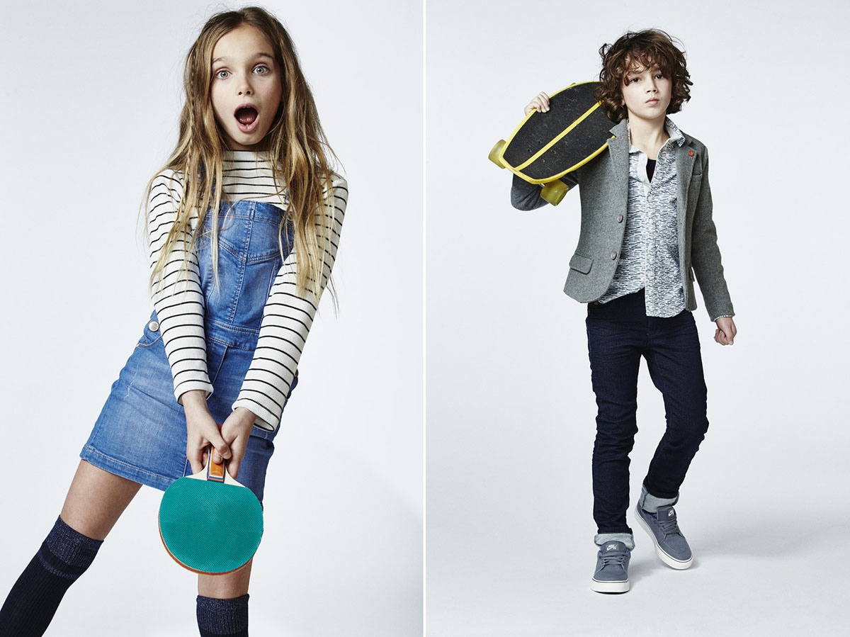 La collection automne hiver 2016 de CKS Kids, book photos enfants en studio