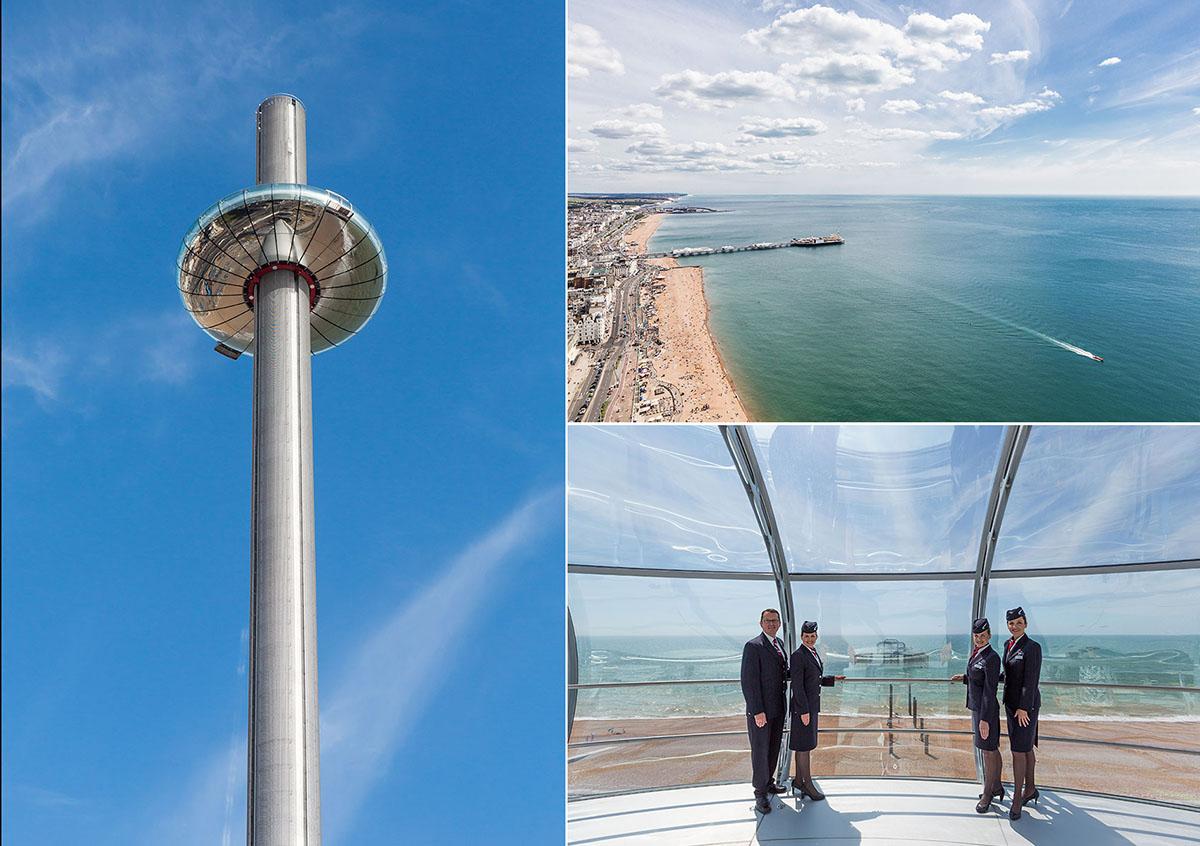 La tour British Airways i360 et la vue sur Brighton et sa région.