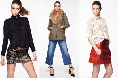 Photo de mode avec mannequin sur fond blanc pour presenter la collection automne hiver 2106 de ba&sh