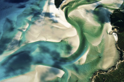 Sandbanks on the coast of Whitsunday Island, Queensland, Australia