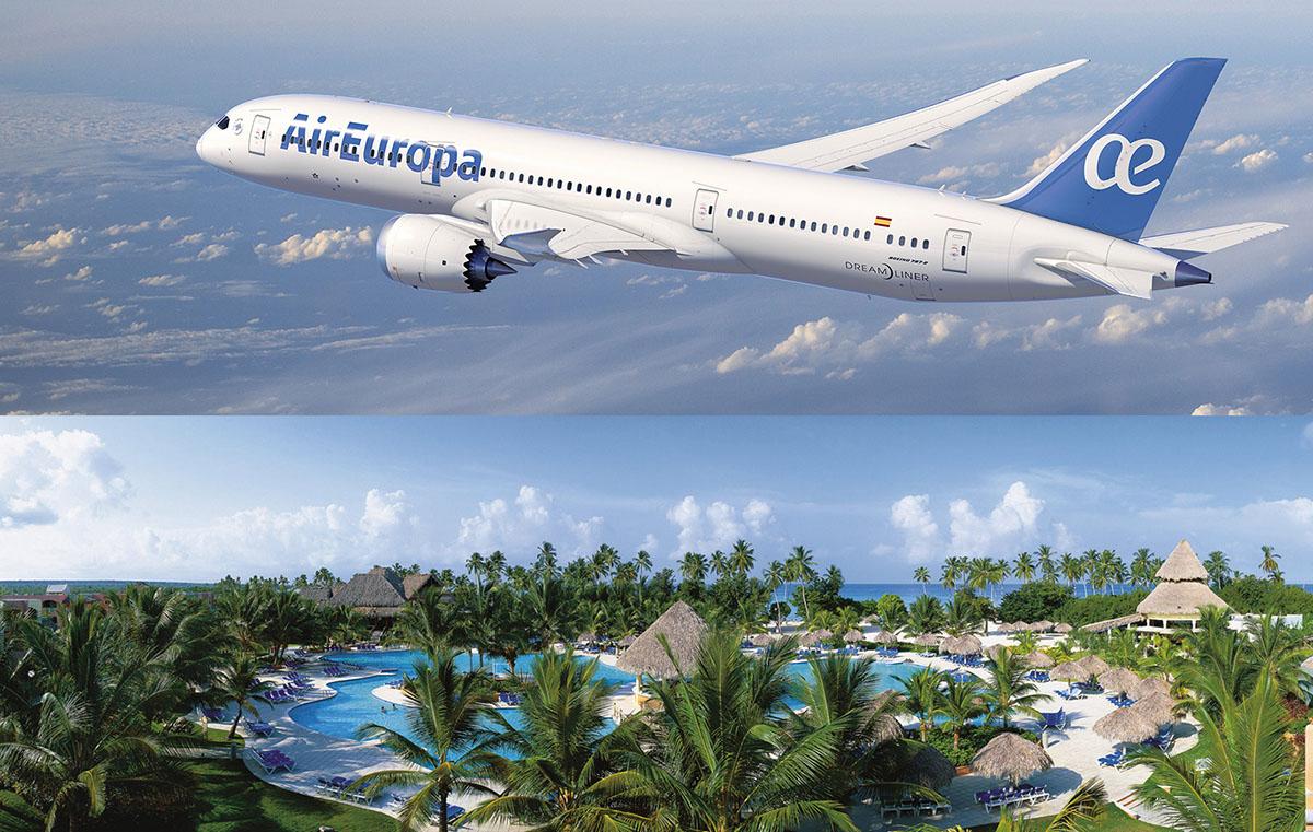Boeing 787 Dreamliner d'Air Europa et Hôtel Be Live Collection Canoa La Romana