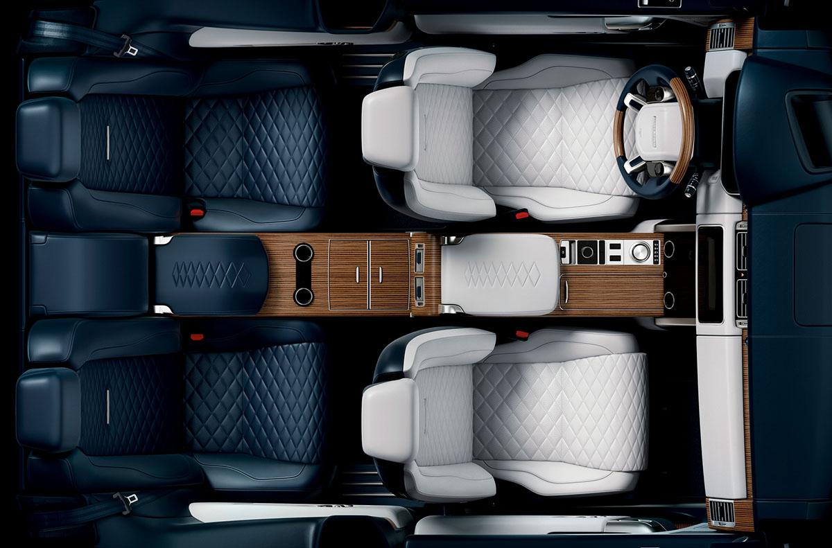 Intérieur du nouveau Range Rover SV Coupé