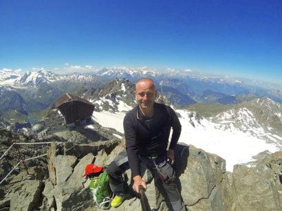 Selfie au somment du Mont-Fort à 3330 mètres à Verbier