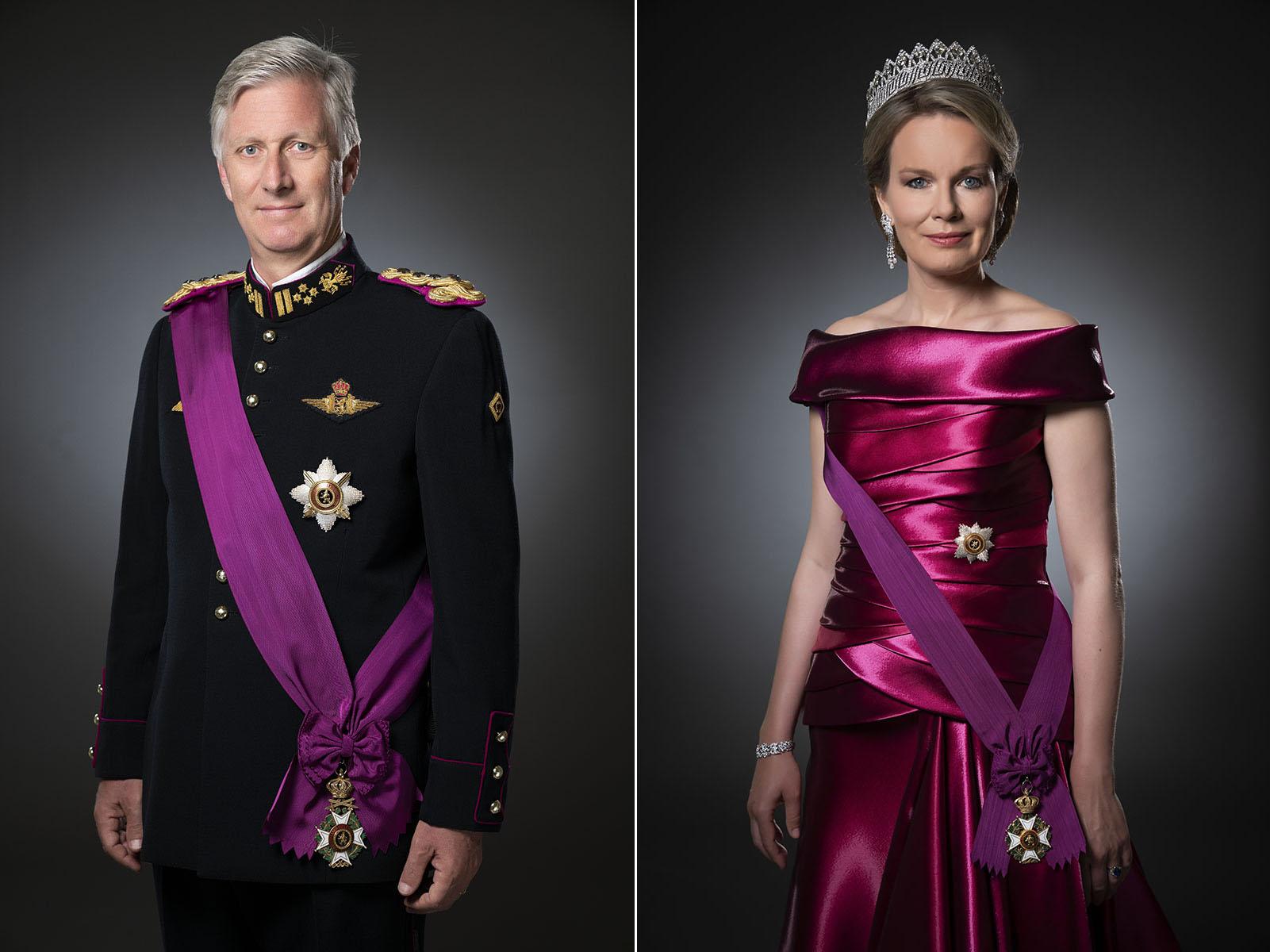 Photos officielles du Roi Philippe et la Reine Mathilde en tenue de Gala
